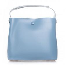 Сумка кожаная женская Alex Rai №8702 light-blue