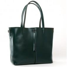 Большая женская сумка из кожи ALEX RAI 8704-220 green