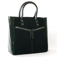 Большая женская замшевая сумка ALEX RAI 8713-11 green