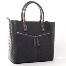 Большая замшевая женская сумка ALEX RAI 8713-11 grey