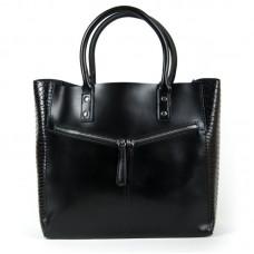 Большая женская сумка из натуральной кожи Alex Rai 8713-12 black