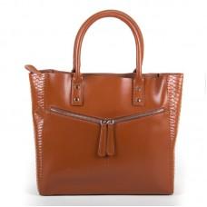 Женская сумка натуральная галадкая кожа Alex Rai 8713-12 khaki