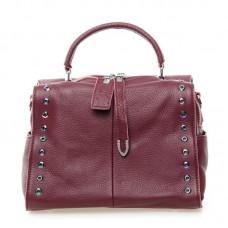 Женская сумка из кожи Alex Rai №8760-9 Бордовый