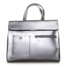 Женская сумка из натуральной кожи Alex Rai №8764 light-grey
