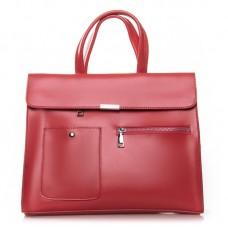 Женская сумка натуральная кожа Alex Rai №8764 watermelon red