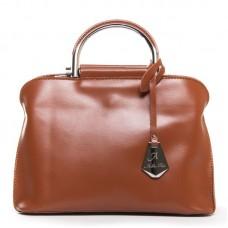 Женская сумка кожа ручки металл Alex Rai 8765 taupe