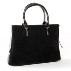 Женская сумка из замши классическая ALEX RAI 8772 black