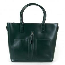 Женская сумка-шоппер кожа Alex Rai 8776 dark-green
