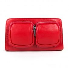 Женский клатч кожаный  Alex Rai 8785-9 red