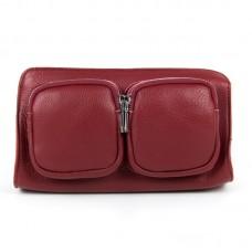 Женский кожаный клатч Alex Rai 8785-9 wine-red