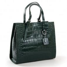 Женская кожаная сумка с тиснением ALEX RAI 8800 green