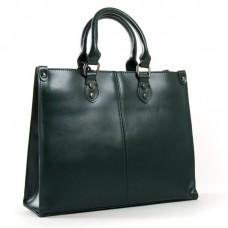 Женская сумка натуральная кожа ALEX RAI 8802 dark-green