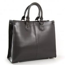 Классическая кожаная женская сумка ALEX RAI 8802 dark-grey