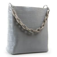 Женская сумка натуральная кожа ALEX RAI 9704 grey