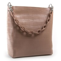 Кожаная женская сумка ALEX RAI 9704 pink