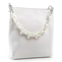 Кожаная сумка женская ALEX RAI 9704 white