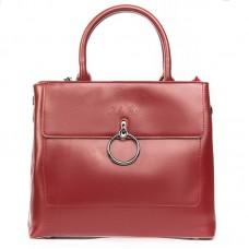 Кожаная сумка женская Alex Rai №9921 wine-red