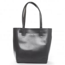 Женская кожаная сумка с длинными ручками Alex Rai J003 dark-grey